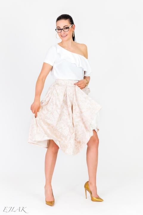 Różowa Żakardowa Spódnica